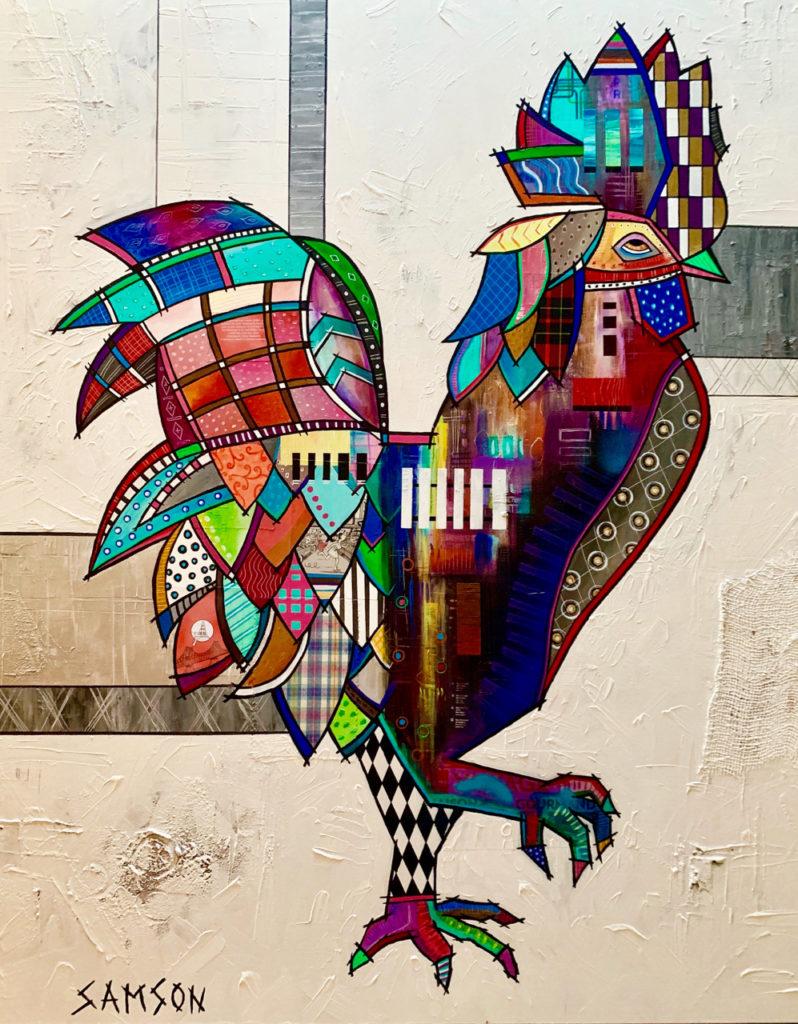 Le coq - Marc Samson Artist
