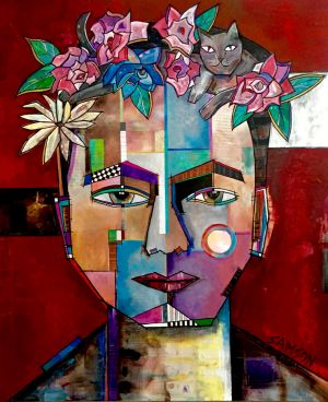 FRIDA ET SON CHAT II - 47po x 3po