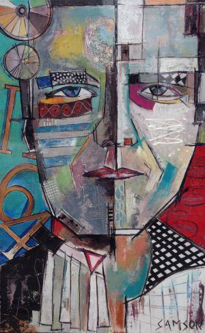 Sylvain – 48″ X 30″ — Acrylique et autres matériaux