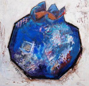 Bleuet – 48″ X 48″ — Acrylique et autres matériaux