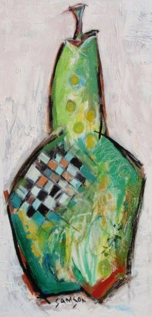 Poire Verte – 24″ X 48″ — Acrylique et autres matériaux