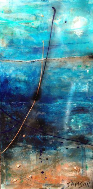 Azul — 48″ X 24″ — Acrylique et autres matériaux