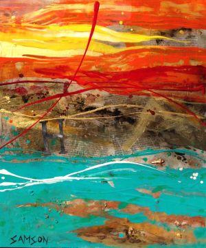 Habana — 30″ X 36″ — Acrylique et autres matériaux