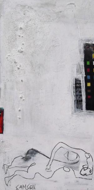 Hommage a Matisse— Acrylique et autres matériaux