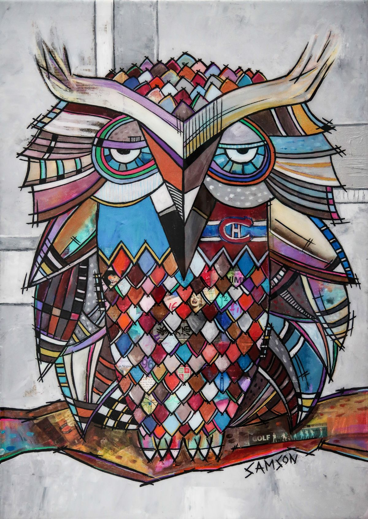 Bien connu Owl Art: Paintings & Artwork on canvas by Marc Samson. EM96