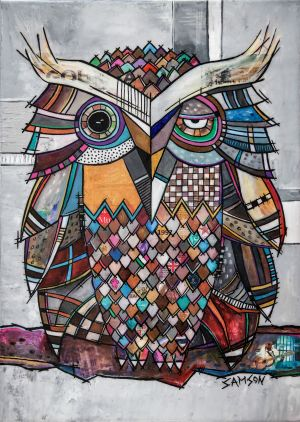 Dave-Alex - 28 x 20 – Acrylique et autres matériaux sur toile.
